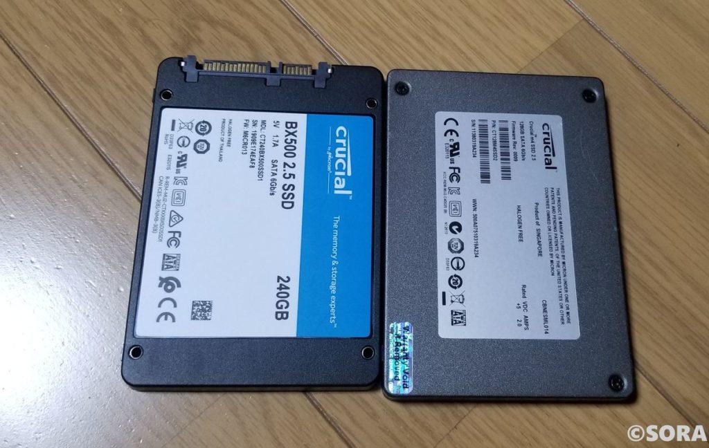SSD128GBと256GB