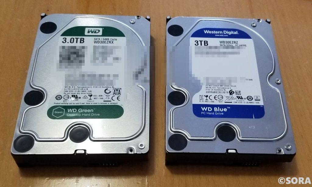 NEC PC-DA770KAの標準ハードディスク