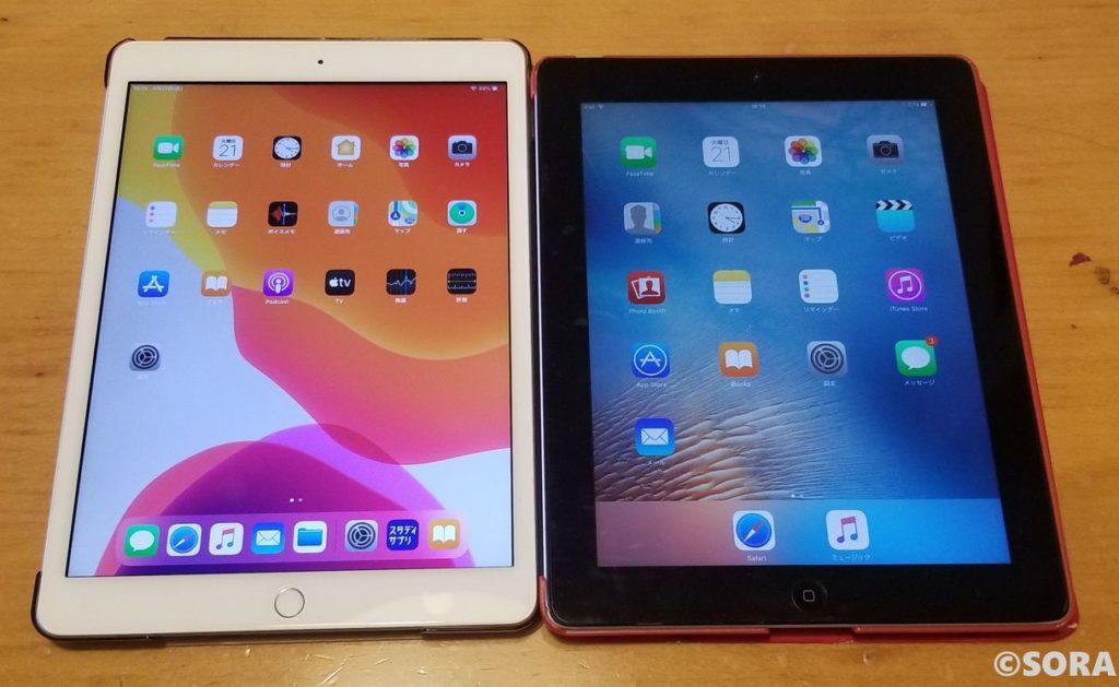 第3世代iPadと第7世代iPadの比較